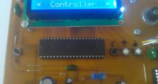 کنترل دور استپ موتور با LCD